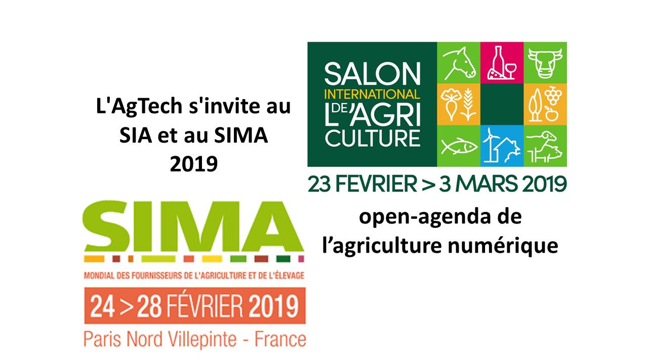 L'AgTech s'invite au SIA et au SIMA 2019