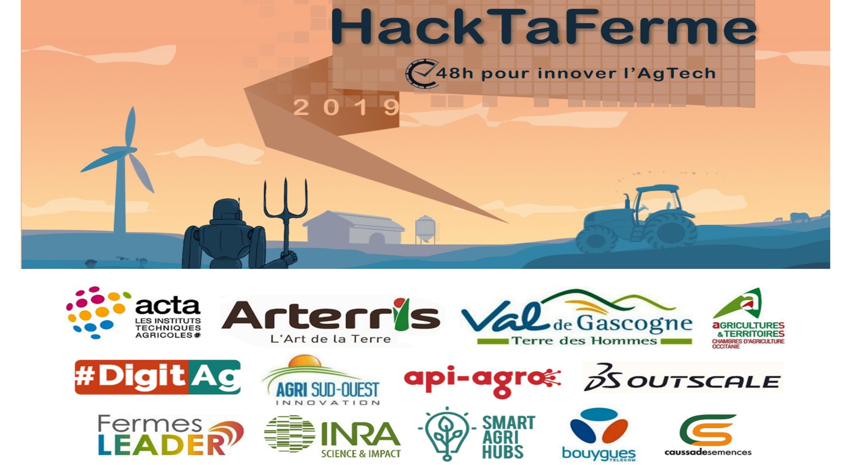 Résultats du HackTaFerme 2019, un hackathon chez et pour les agriculteurs, dans le Gers !